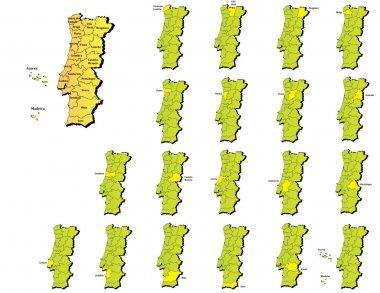 Portugal provinces maps