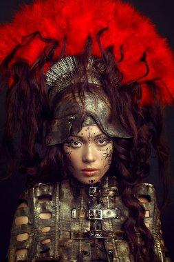 Fashion portrait of asian model