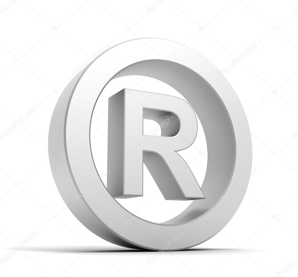 r registered symbol stock photo