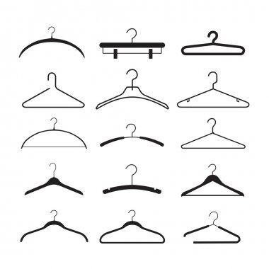 Clothes rack silhouettes