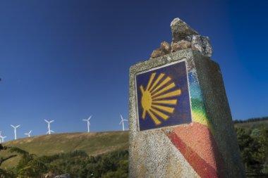 Spain, Galicia, Camino de Santiago Milestone