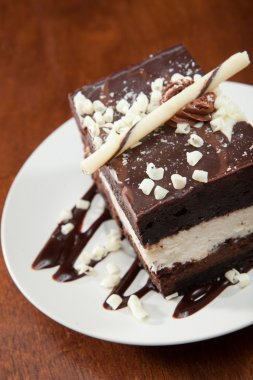 Rich and decadent tuxedo mousse cake
