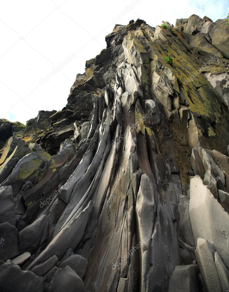 Basalt rock face