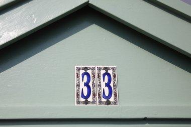Beach hut number 33