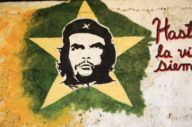 Picture of Che Guevara on a wall