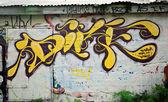Fotografie Graffiti auf dem Parkplatz