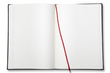 Open blank exercise book.