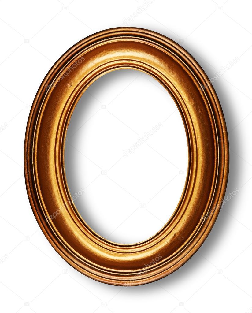 marco oval dorado — Foto de stock © dp3010 #29232235