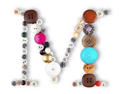 Buttons alphabet - letter M -