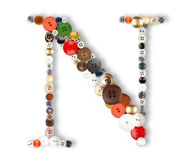 Buttons alphabet  - letter N -