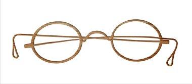 Glasses  on white.