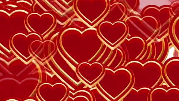 100 létající srdce lásky, svatba alfa animace, Valentýn, matný