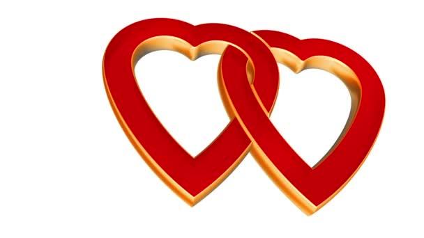 transparentní létání srdce lásky, svatba alfa animace, Valentýn, matný
