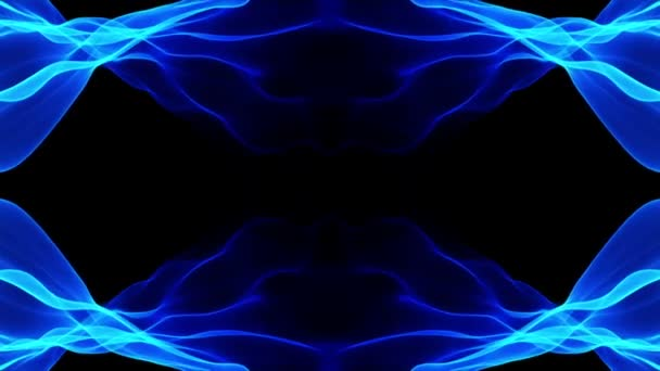 Abstract background, blue soft motion flowing animation on black background