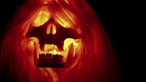 kísérteties ijesztő koponya repülő fekete háttér