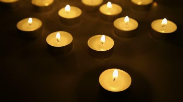 Candles lights background, burning candle light decoration