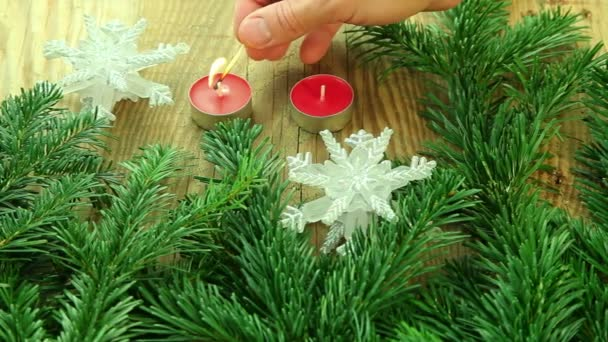Beautiful traditional Christmas decoration background with xmas tree branch