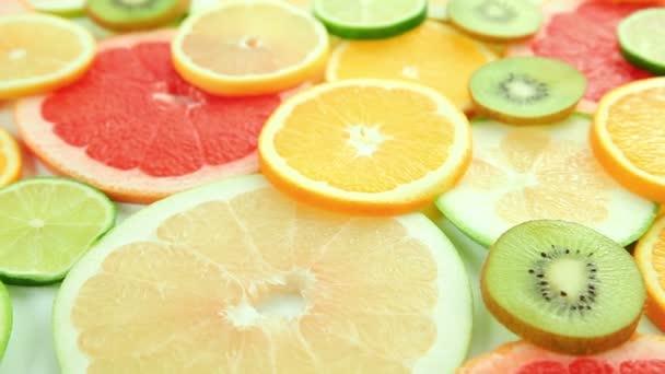 Citrus fruit orange, kiwi, grapefruit, lemon, lime, pomelo