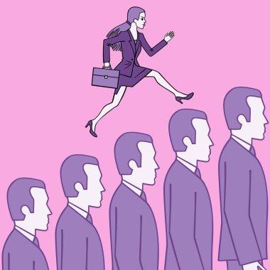 Female careerist.