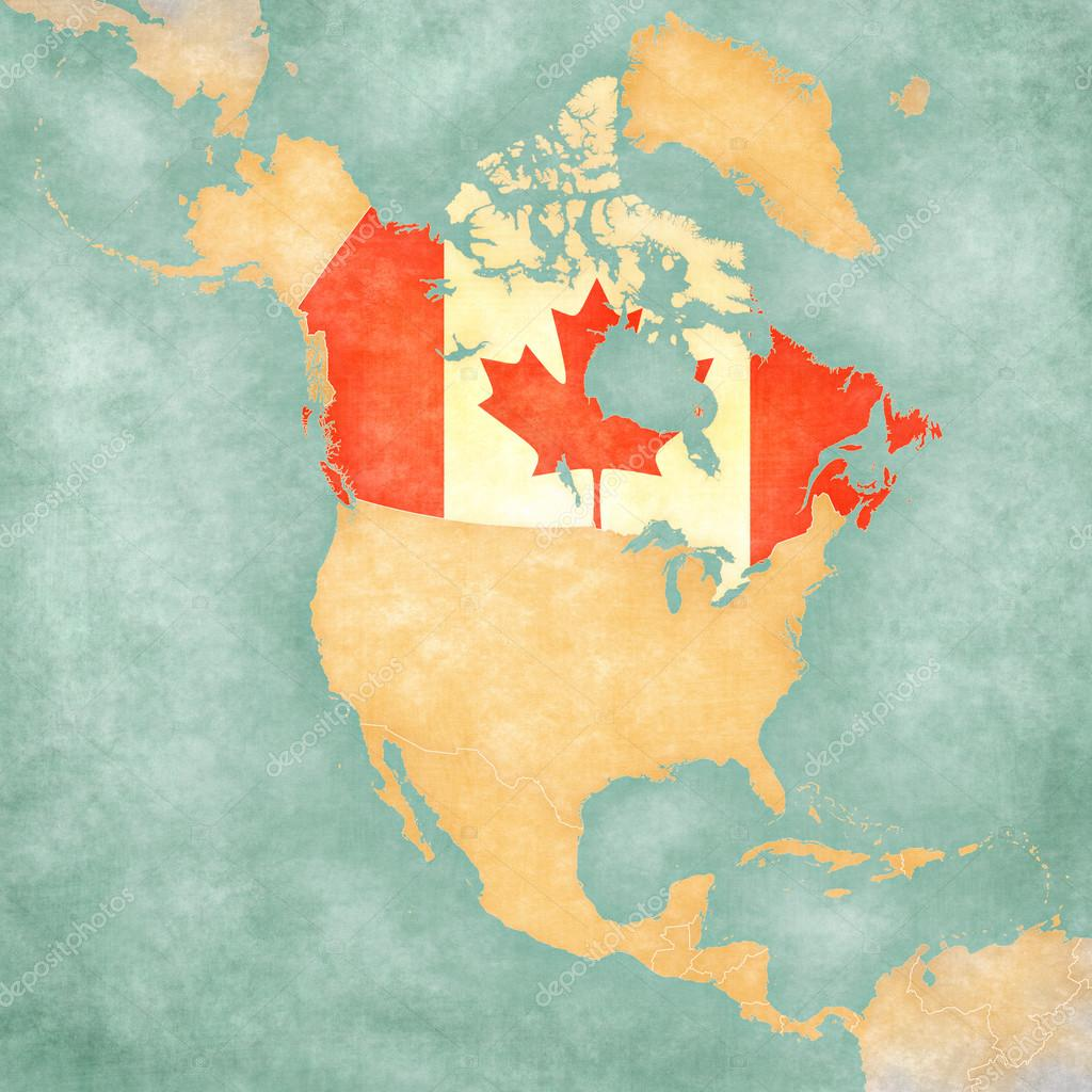 Map of North America - Canada (Vintage Series) — Stockfoto © Tindo ...