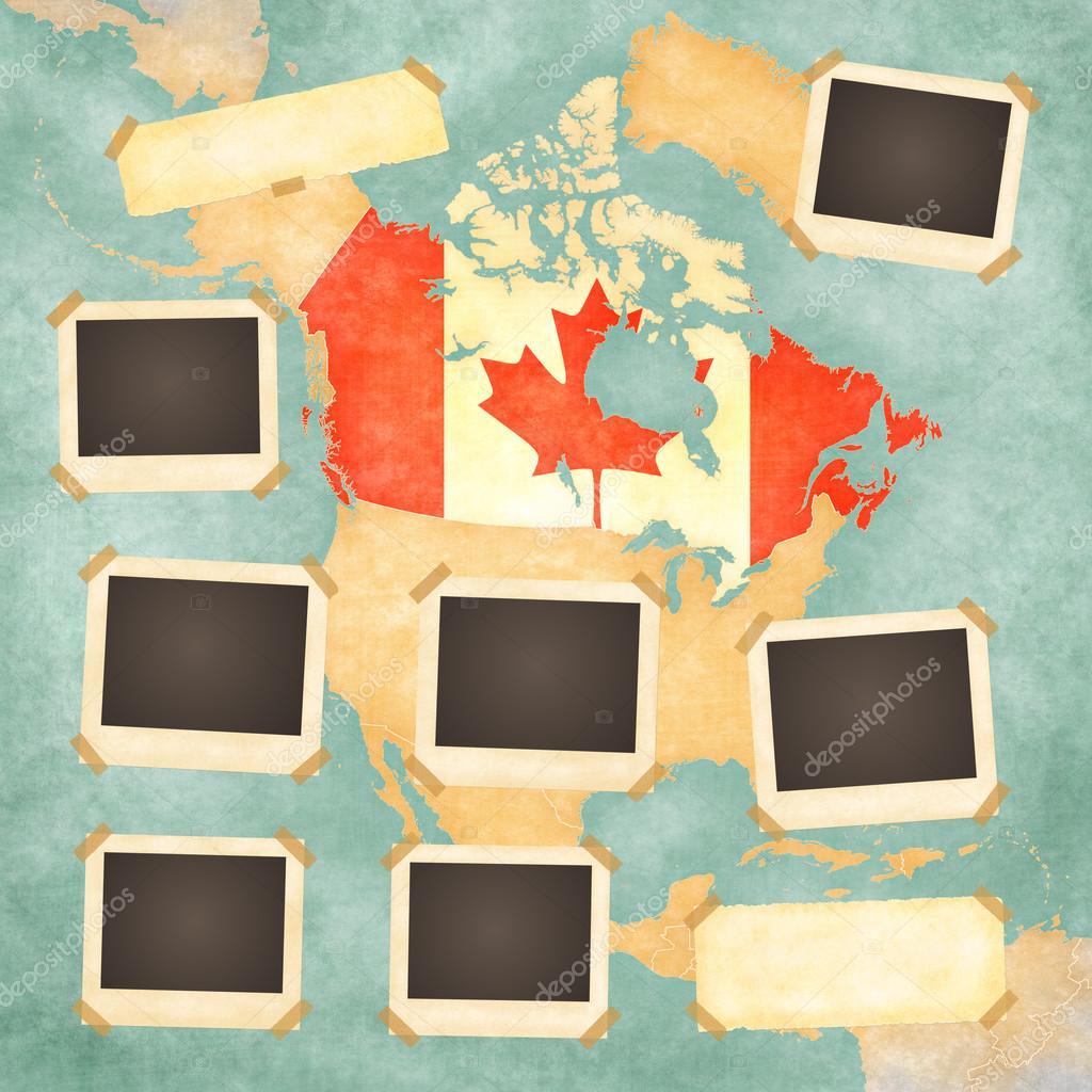 Vintage photo frames (Canada) — Stock Photo © Tindo #30512707