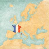 mapa Evropy - Francie (ročník série)
