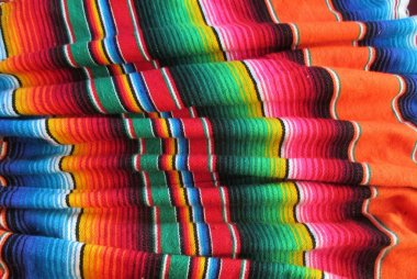Cinco de mayo Mexican handwoven rug poncho serape fiesta background with stripes and bright colors hispanic traditional hispanic culture craft fabric stock, photo, photograph, image, picture,