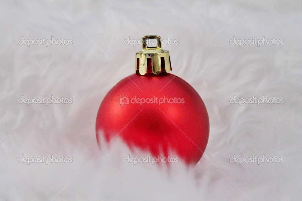 Kerstdecoraties Met Rood : Rood zilver kerstdecoratie met nep sneeuw u stockfoto