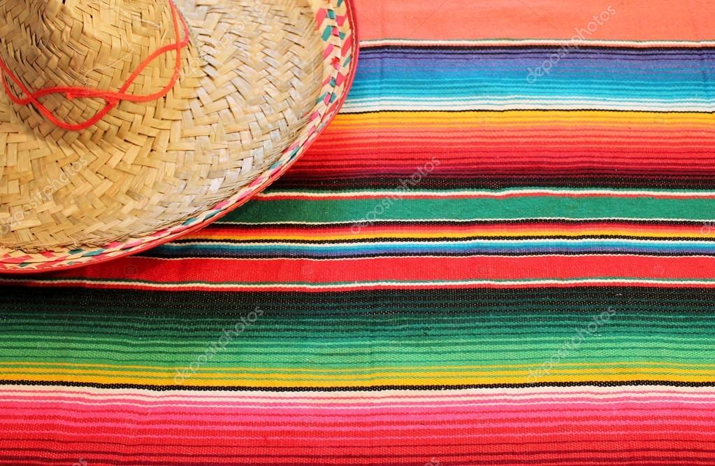 mexican fiesta poncho background cinco de mayo rug in bright colors