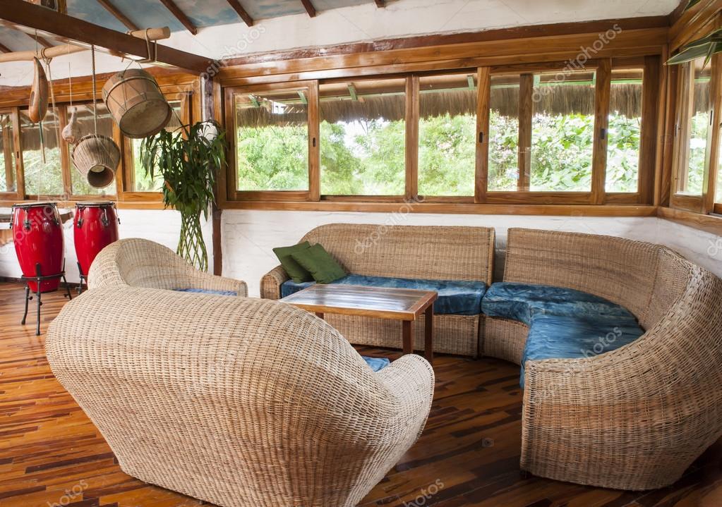 Wohnzimmer in Bambus — Stockfoto © Photofollies #28136493