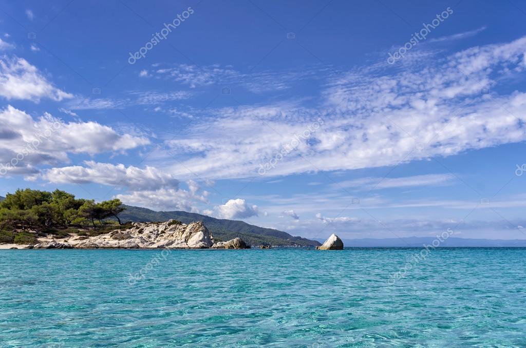 Amazing sea water in Sithonia, Chalkidiki, Greece