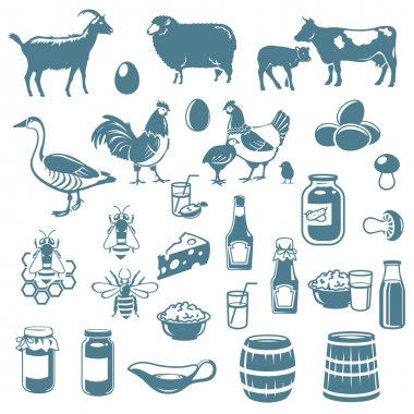 icons of animals and food