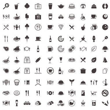 Vector icons food and drink