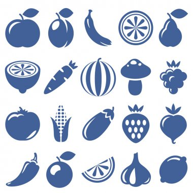 icons of fruits and vegetables