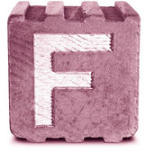 Fotografie Photograph of Magenta Wooden Block Letter F