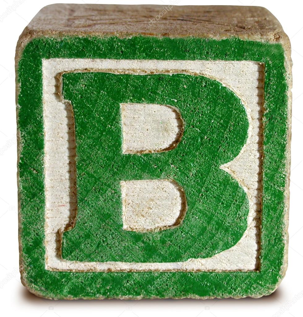 Photograph of Green Wooden Block Letter B — Stock Photo © ronjoe
