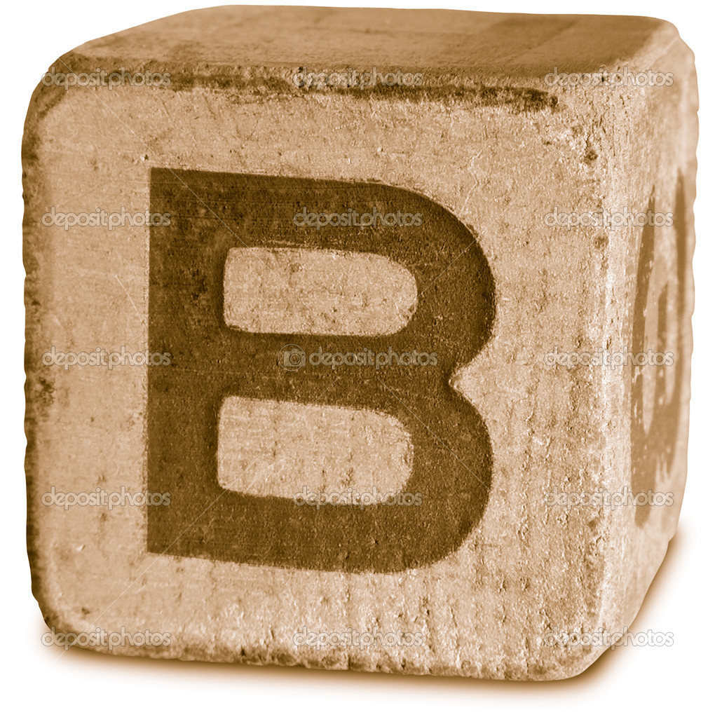 Photograph of Sepia Wooden Block Letter B — Stock Photo © ronjoe