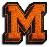 Fotografia fotografia della lettera di scuola sport - nero e arancione m