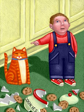 Illustration of Darn Cat
