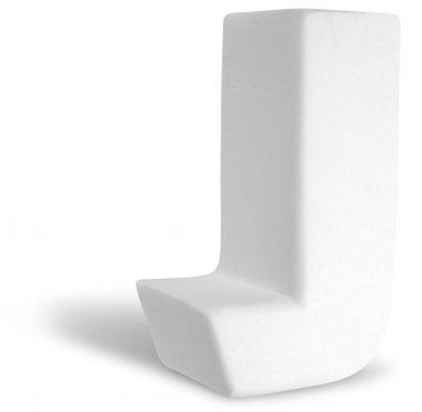 White Dimensional Deco Letter J