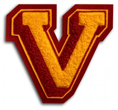 Photograph of School Sports Letter - Burgundy and Gold V