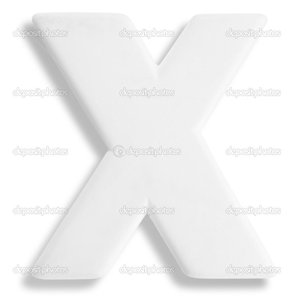 weiße deko-buchstabe x — stockfoto © ronjoe #29377515