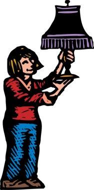 Woodcut illustration of Antiquing