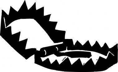 Vector Illustration of Bear Trap