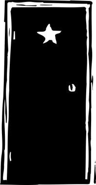 Vector Illustration of Dressing Room