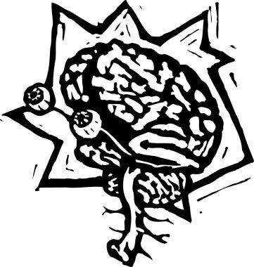 Vector Illustration of Electro Brain
