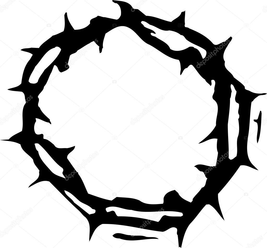 vector illustration of crown of thorns stock vector ronjoe 29512319 rh depositphotos com cross with crown of thorns vector cross with crown of thorns vector