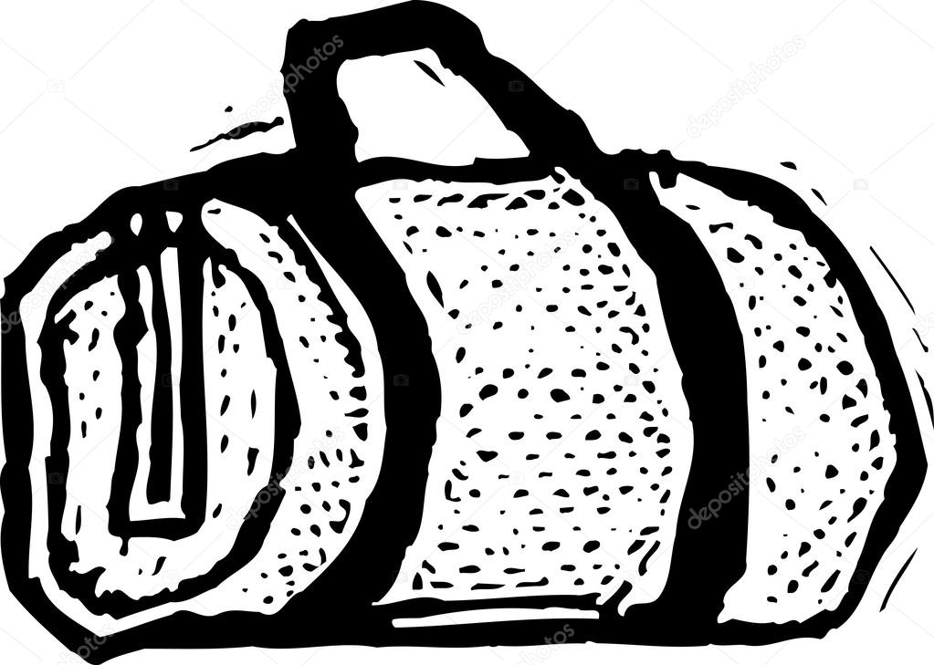 Black and white vector Illustration of Duffel Bag — Vector by ronjoe. Find  Similar Images c68f55c109a9d