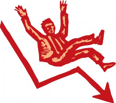 Woodcut illustration of Free-Fall