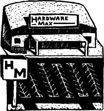 Woodcut Illustration of Hardware Store